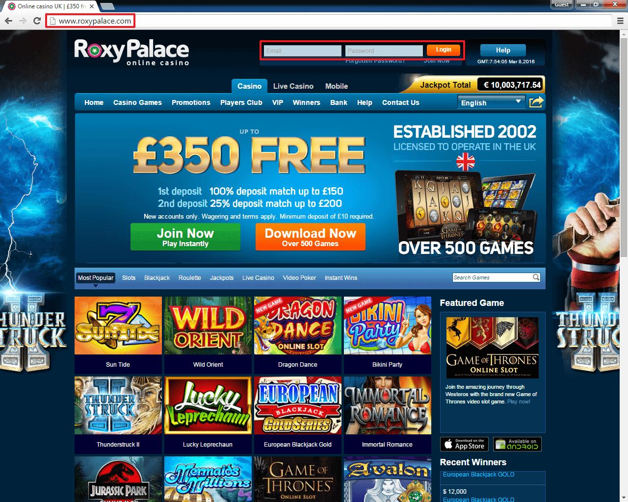 Casino test Roxy -709629
