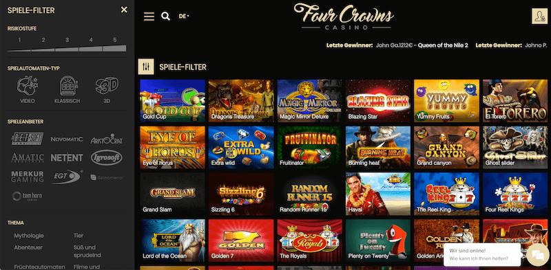 Online Casino üben