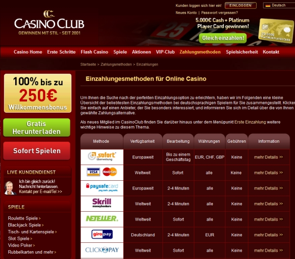 Casino mit Instant Transfer Auszahlung -538554