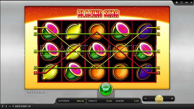 Gewinnspiel Technik Blazing Star Slot -999366