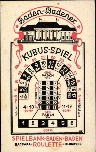 Baccara Kartenspiel Baden-Baden Casino -73313