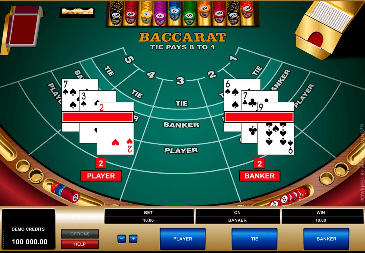 Baccara Kartenspiel 3D -335421