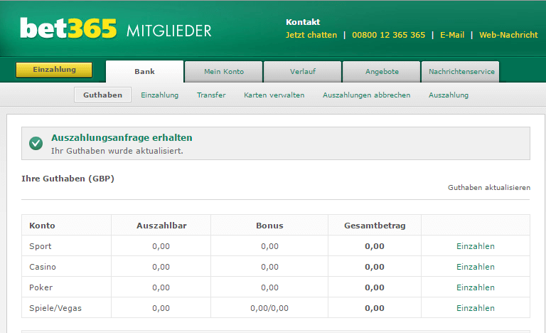 Casino Auszahlung -504000