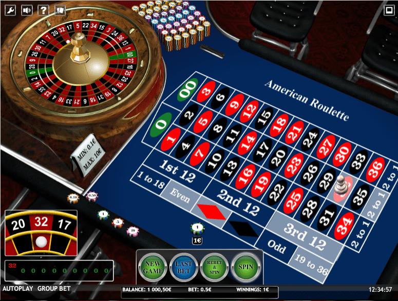 American Roulette spielen online -98704