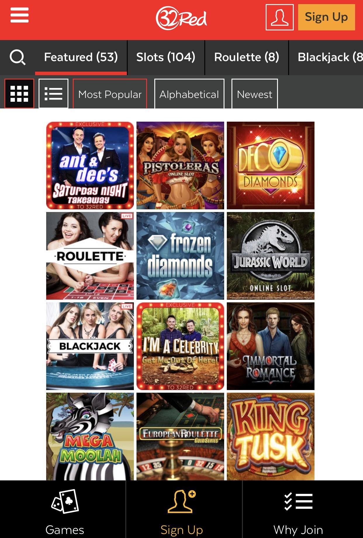 Fehlerfreies Spielen 32Red Casino -216532