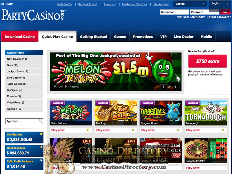 Party Casino free Spins -479022