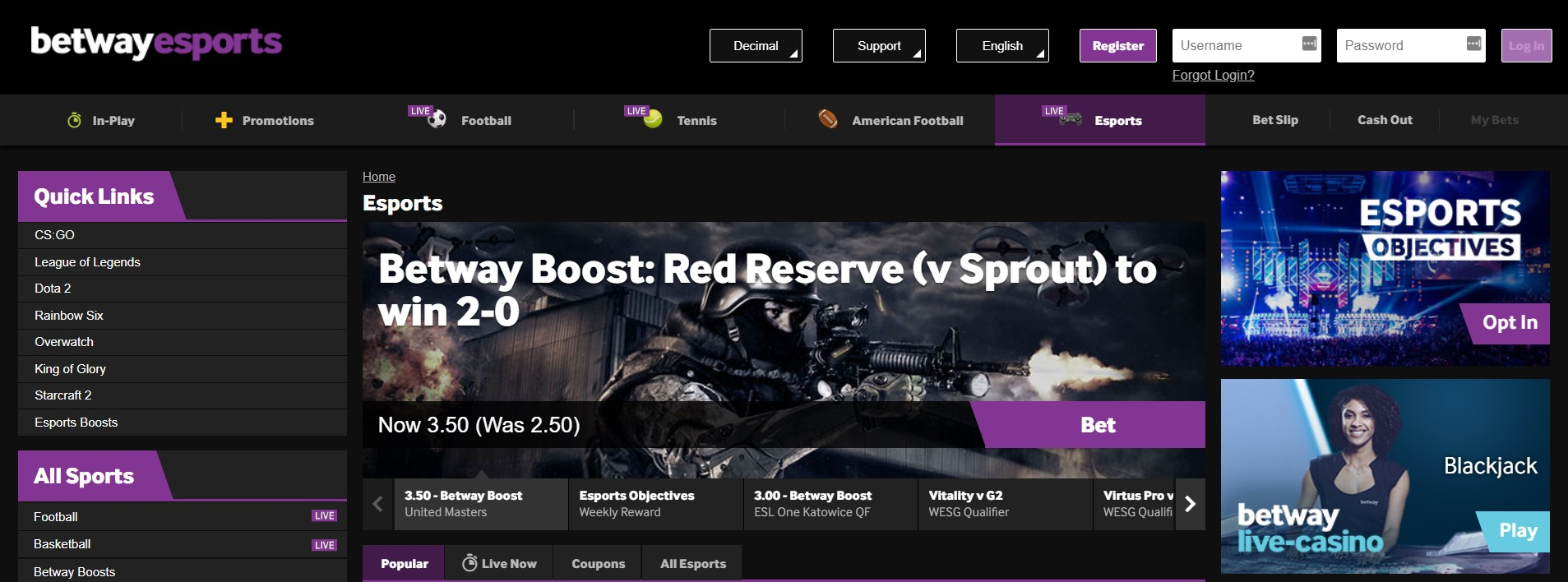 Betway Esports Unique -581273
