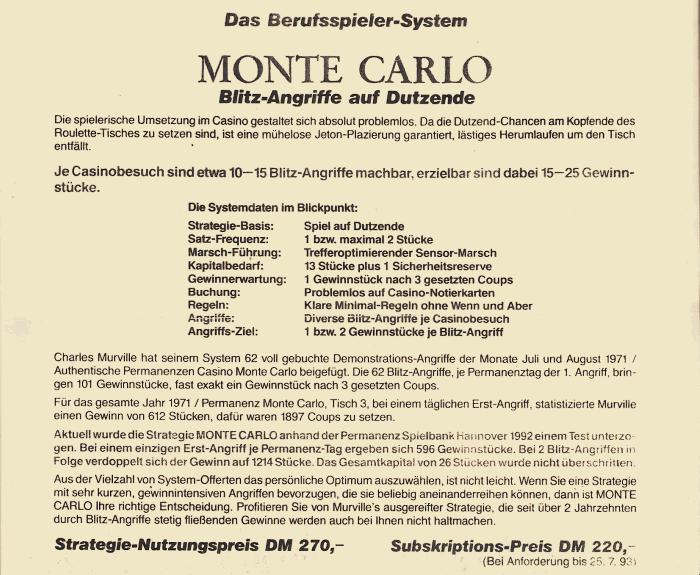 Französischem Roulette Regel Monte Carlo -159438