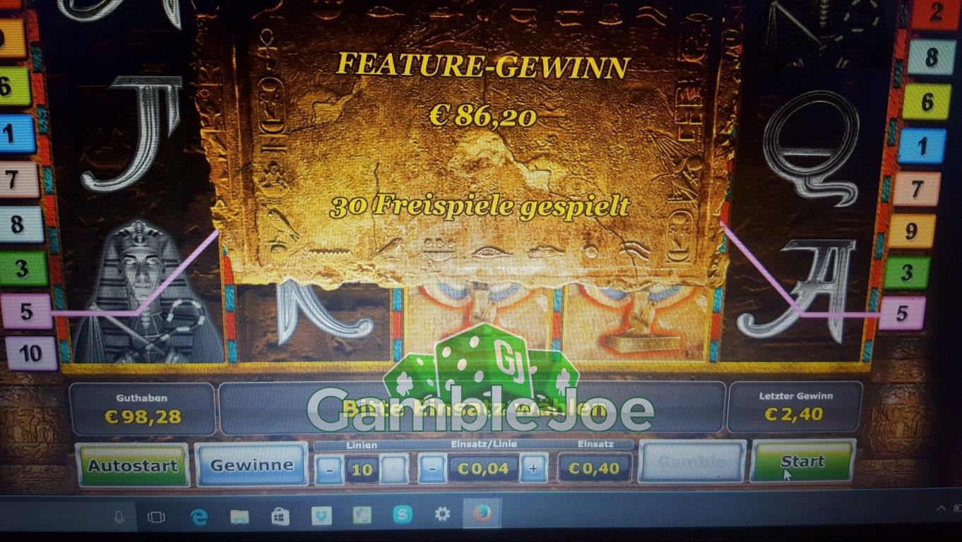 Gewinnbilder Vorkalkulation GoWild Casino -352508