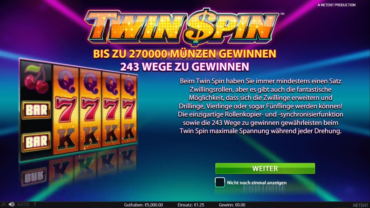 Kostenfreie Spielautomaten Twin Casino Test -667870