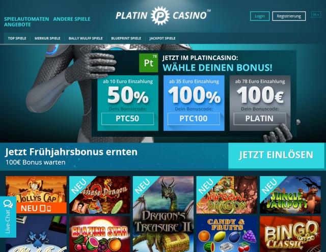Kostenlose Automaten spielen Platin Casino -397518