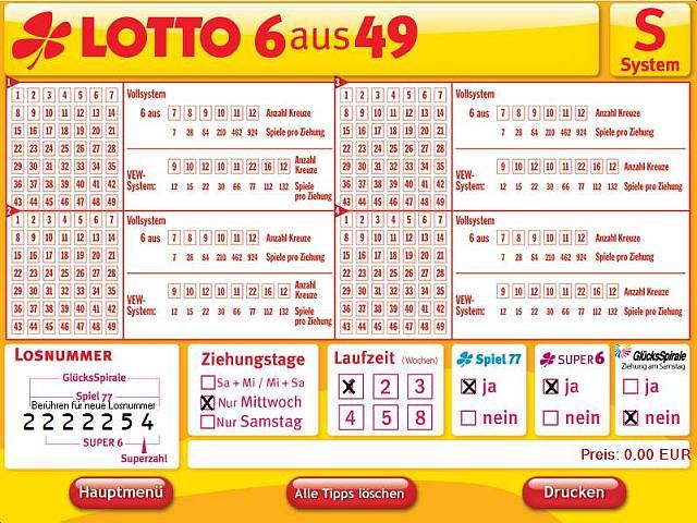 Lotto System spielen mit -607610