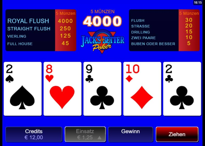 poker spiel auf englisch