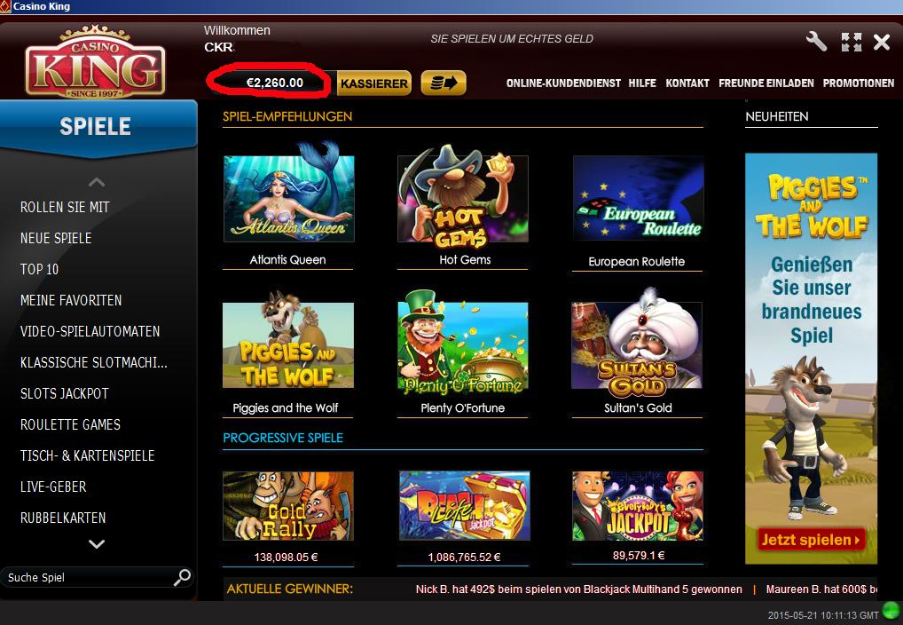 Online Casino Gewonnen