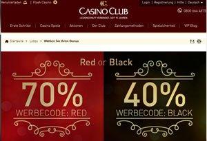 Werbecode Club Casino Live Tischen -307432